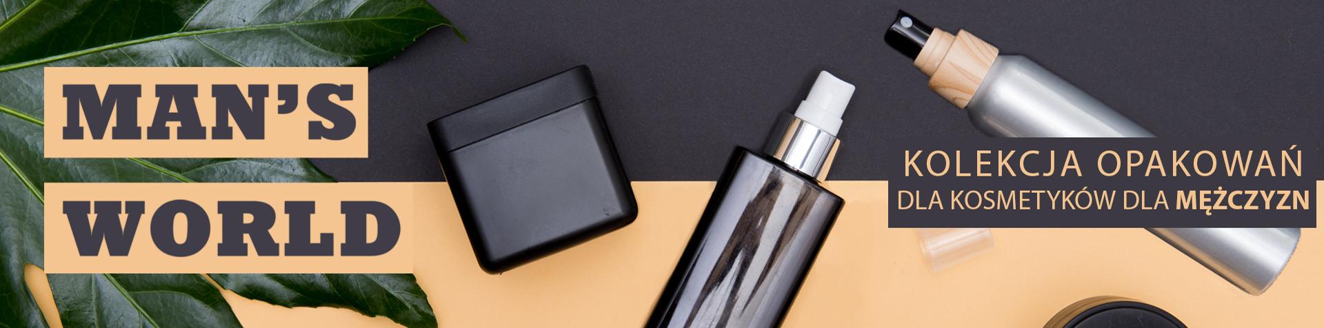 Opakowania dla męskich kosmetyków