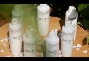 Флаконы для косметики на био-основе - зеленая линейка флаконов от ЦентрУпак